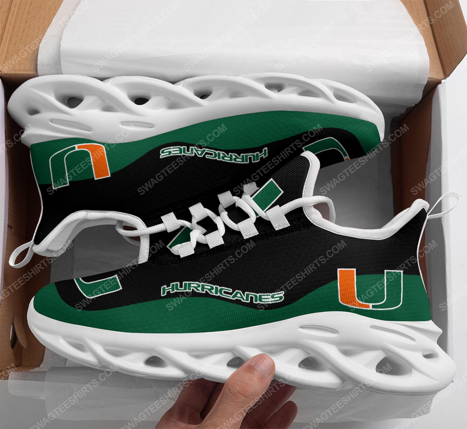 The miami hurricanes football team max soul shoes 1
