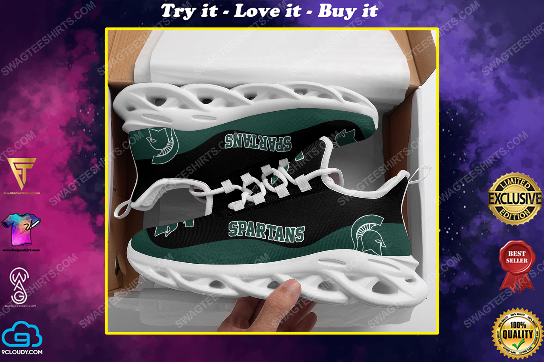 The michigan state spartans football team max soul shoes