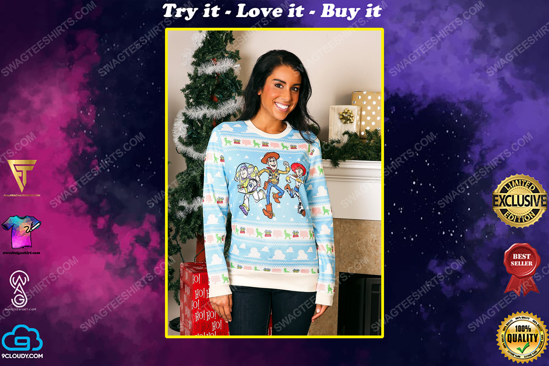 Toy story movie full print ugly christmas sweater