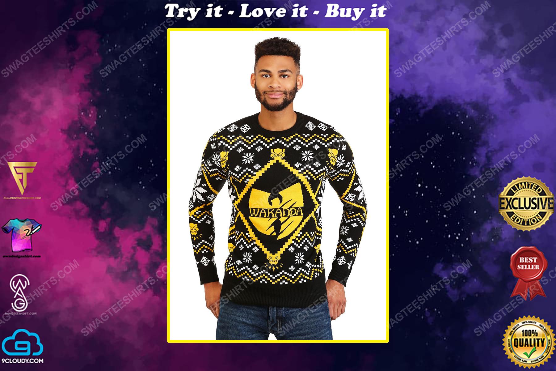 Wu tang clan black panther wakanda ugly christmas sweater