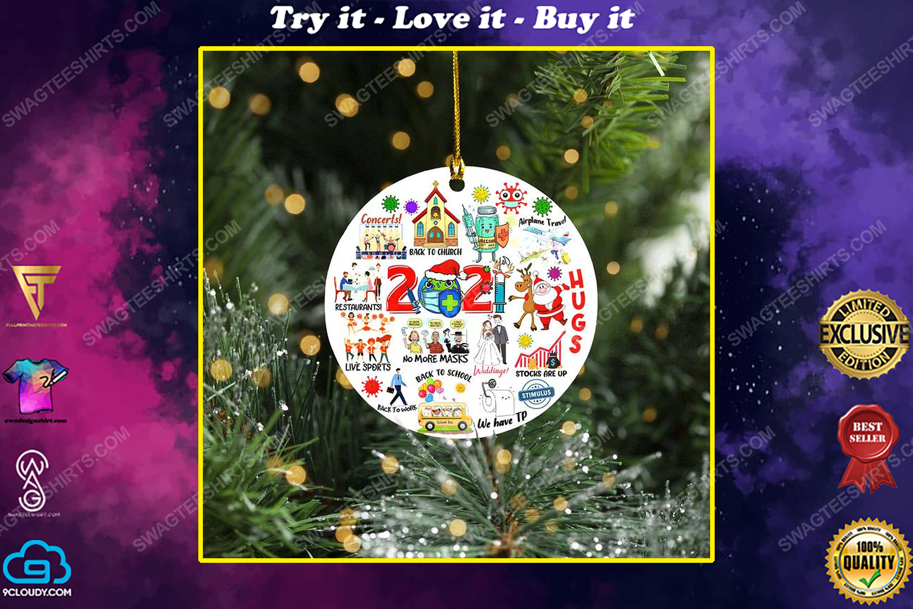 2021 back to school christmas time ornament