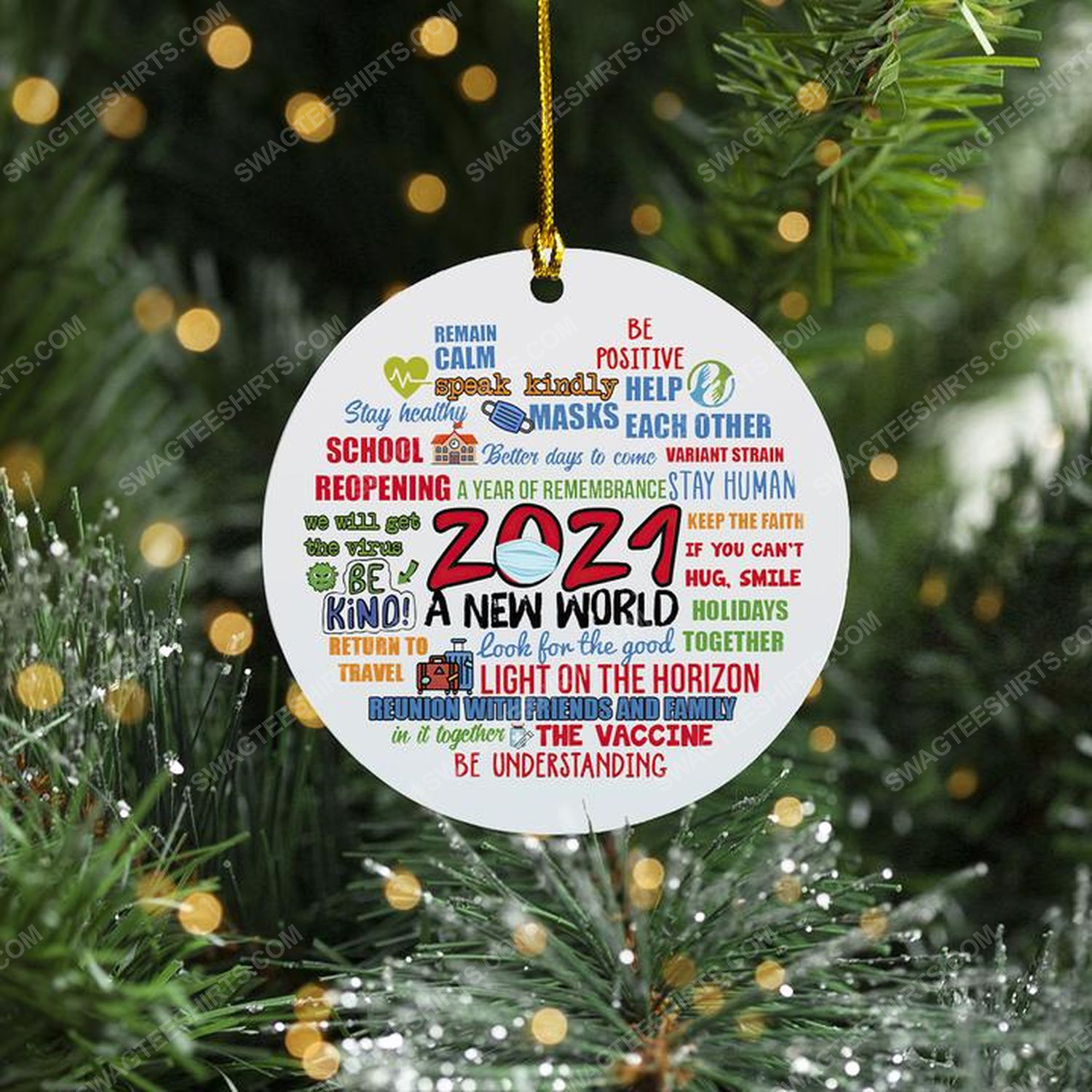 2021 social distancing a new world christmas time ornament 1 - Copy (2)