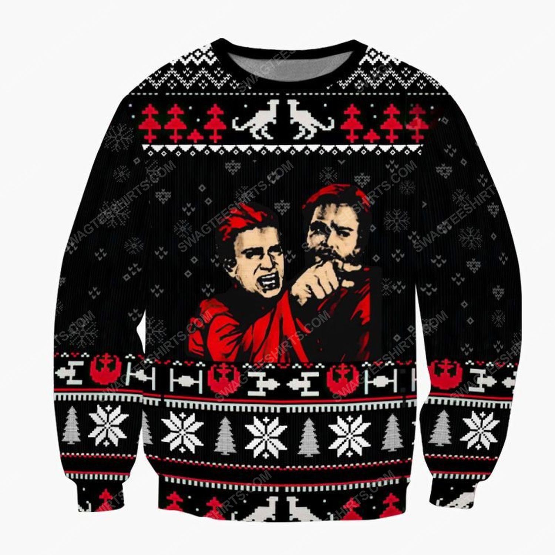 Anakin skywalker meme star wars ugly christmas sweater
