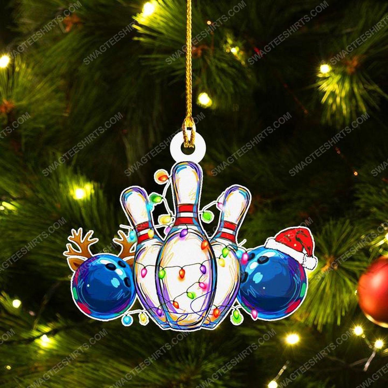 Bowling and christmas light christmas gift ornament 1 - Copy
