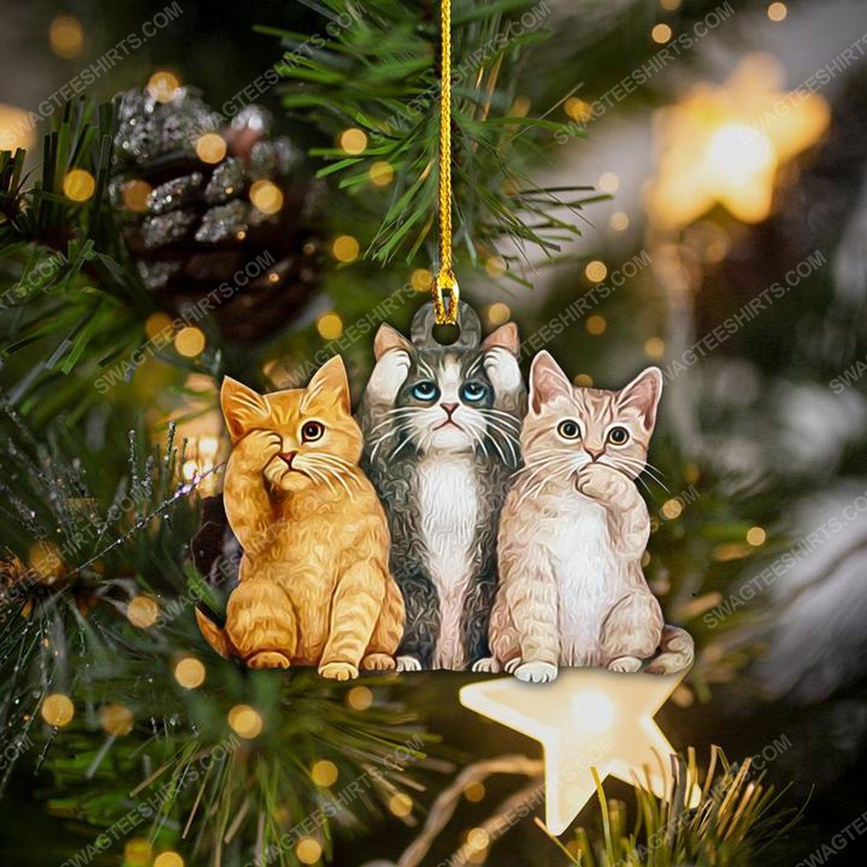 Cat lover christmas gift ornament