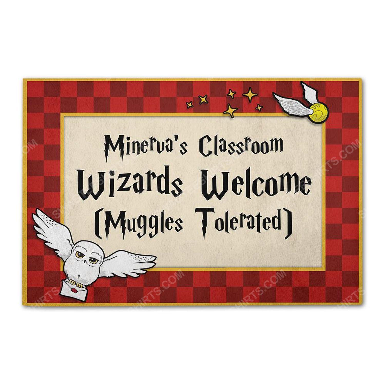 Custom for teacher wizards and muggles classroom doormat 2