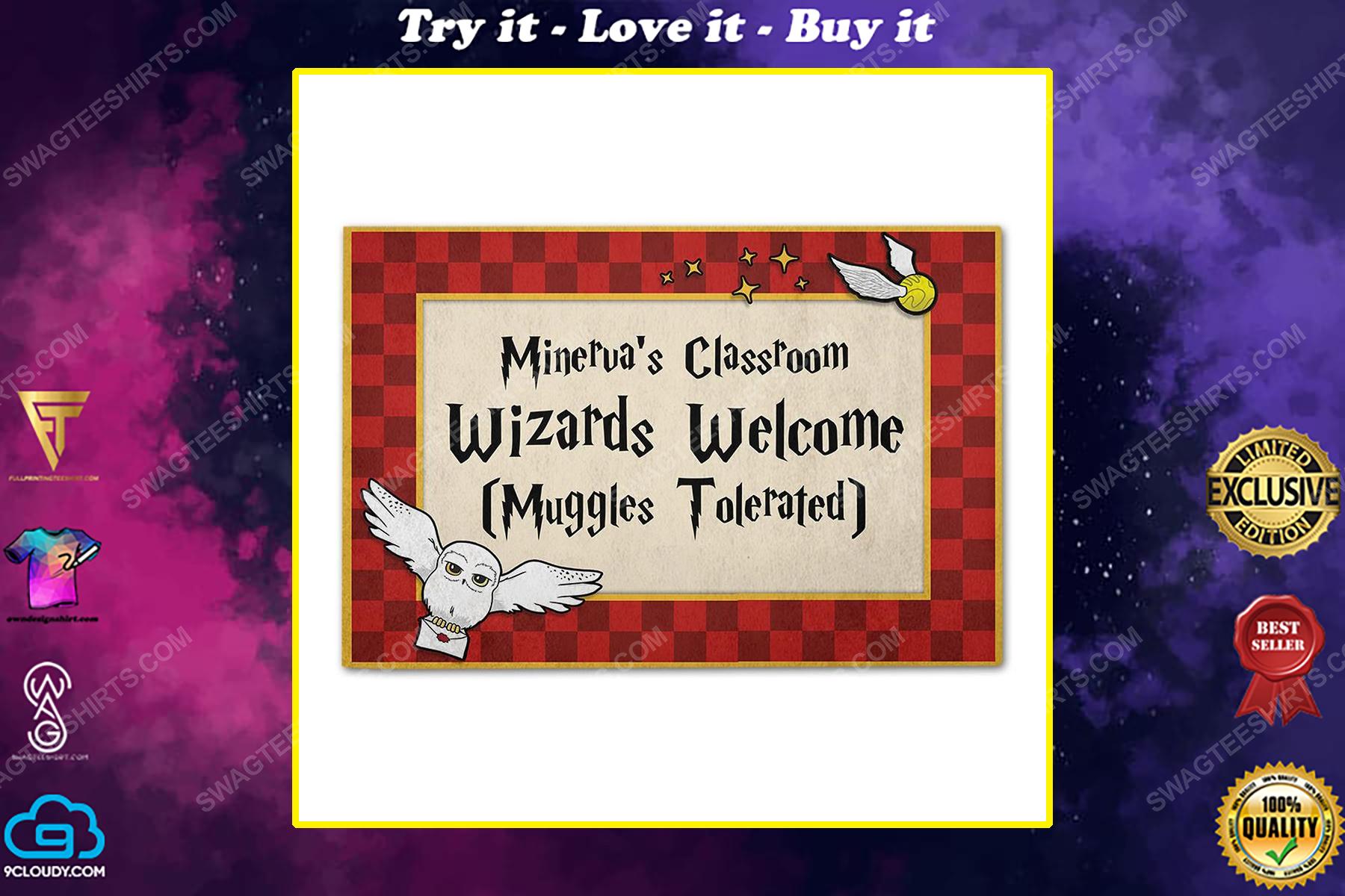 Custom for teacher wizards and muggles classroom doormat