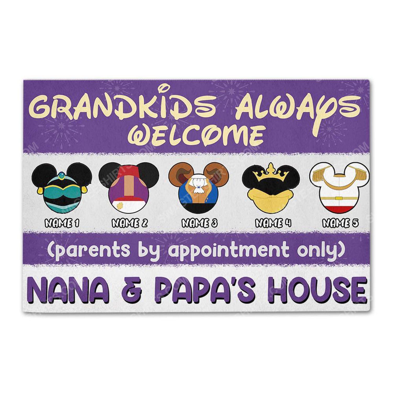 Custom halloween for grandma grandkids always welcome doormat 2