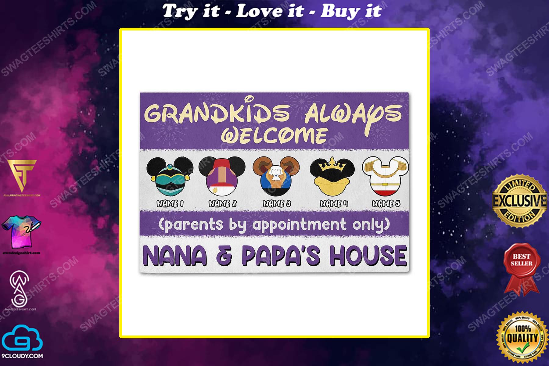 Custom halloween for grandma grandkids always welcome doormat