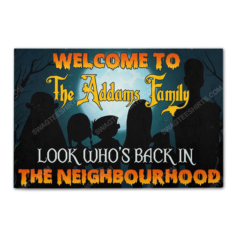 Custom halloween look who's back in the neighbourhood doormat 2