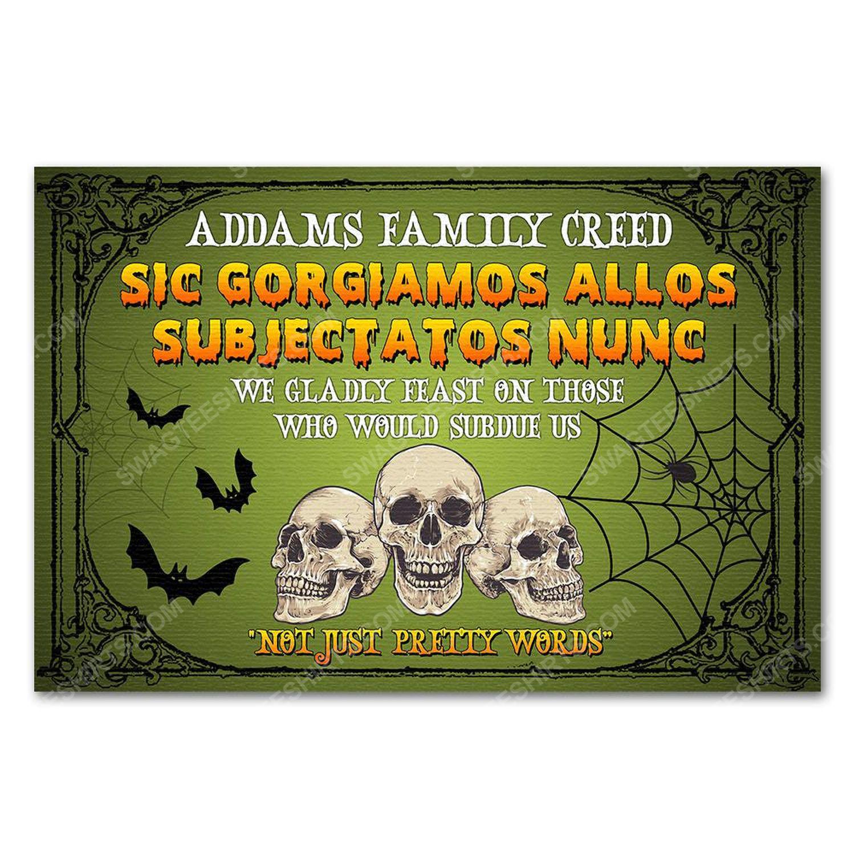 Custom halloween skull not just pretty words doormat 2