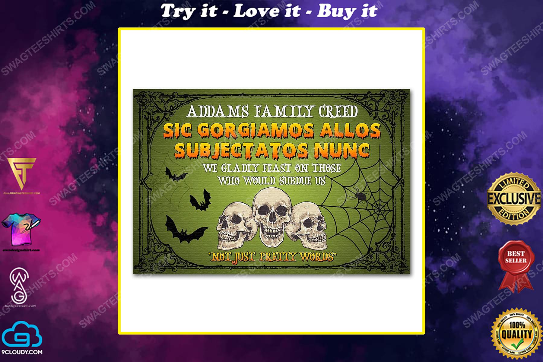 Custom halloween skull not just pretty words doormat