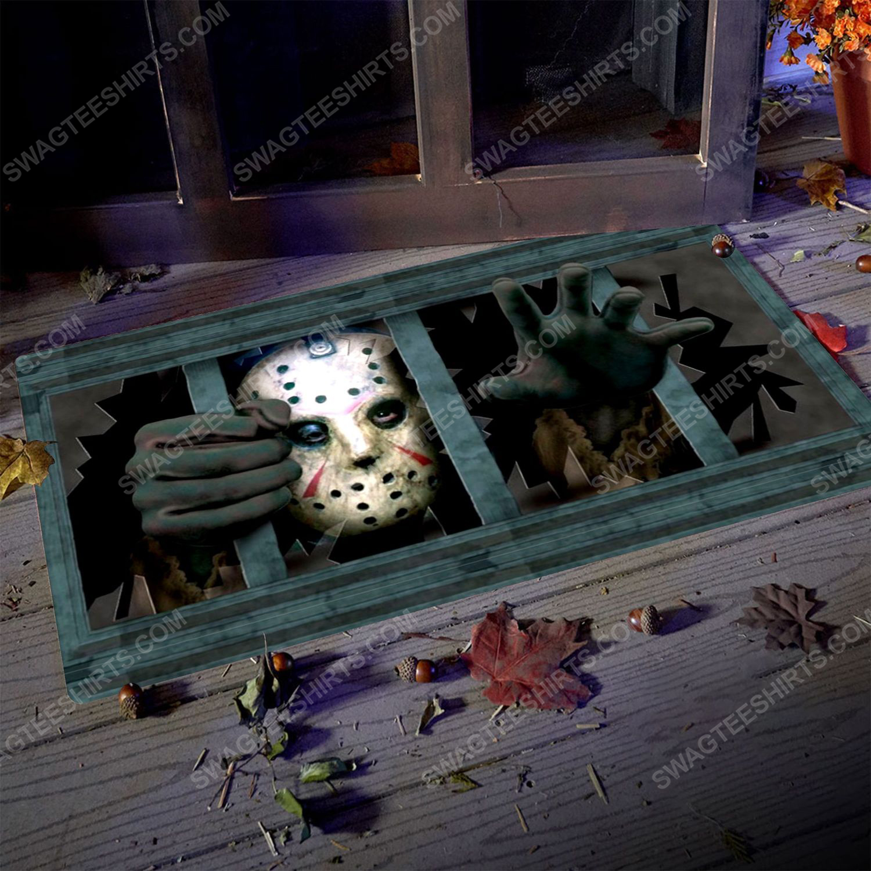 Friday the 13th and jason voorhees halloween doormat 2