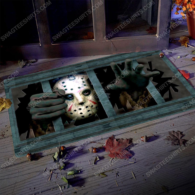Friday the 13th and jason voorhees halloween doormat 5