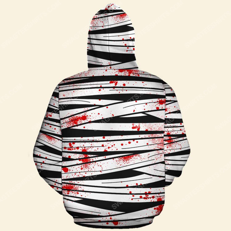 Halloween blood freddy's nightmares never stop dreaming hoodie - back