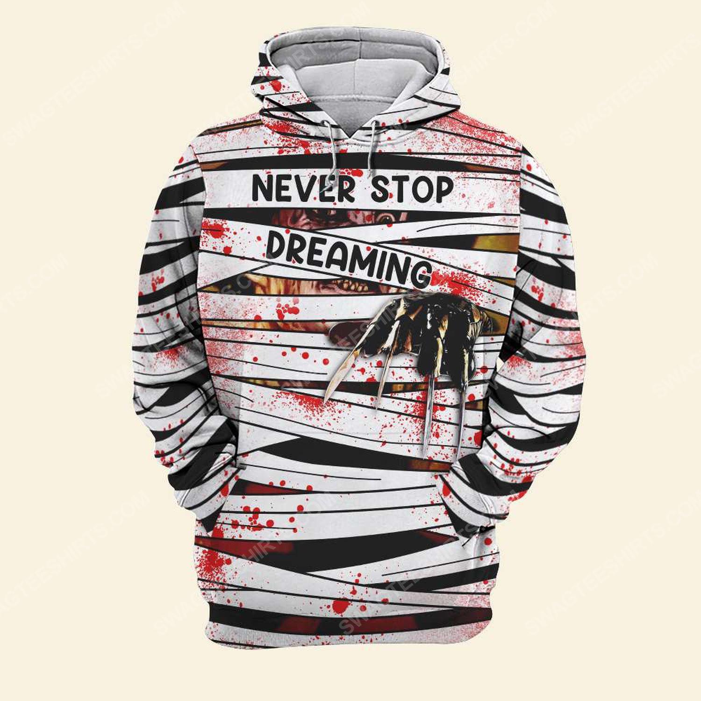 Halloween blood freddy's nightmares never stop dreaming hoodie