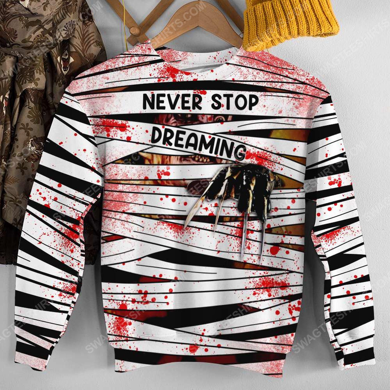 Halloween blood freddy's nightmares never stop dreaming sweatshirt