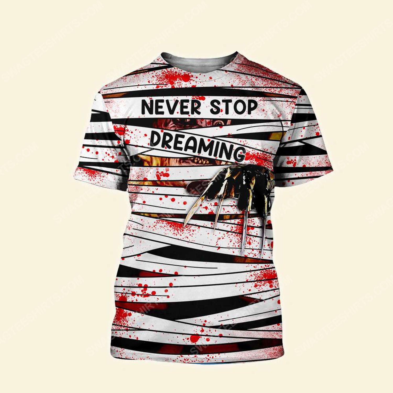 Halloween blood freddy's nightmares never stop dreaming tshirt