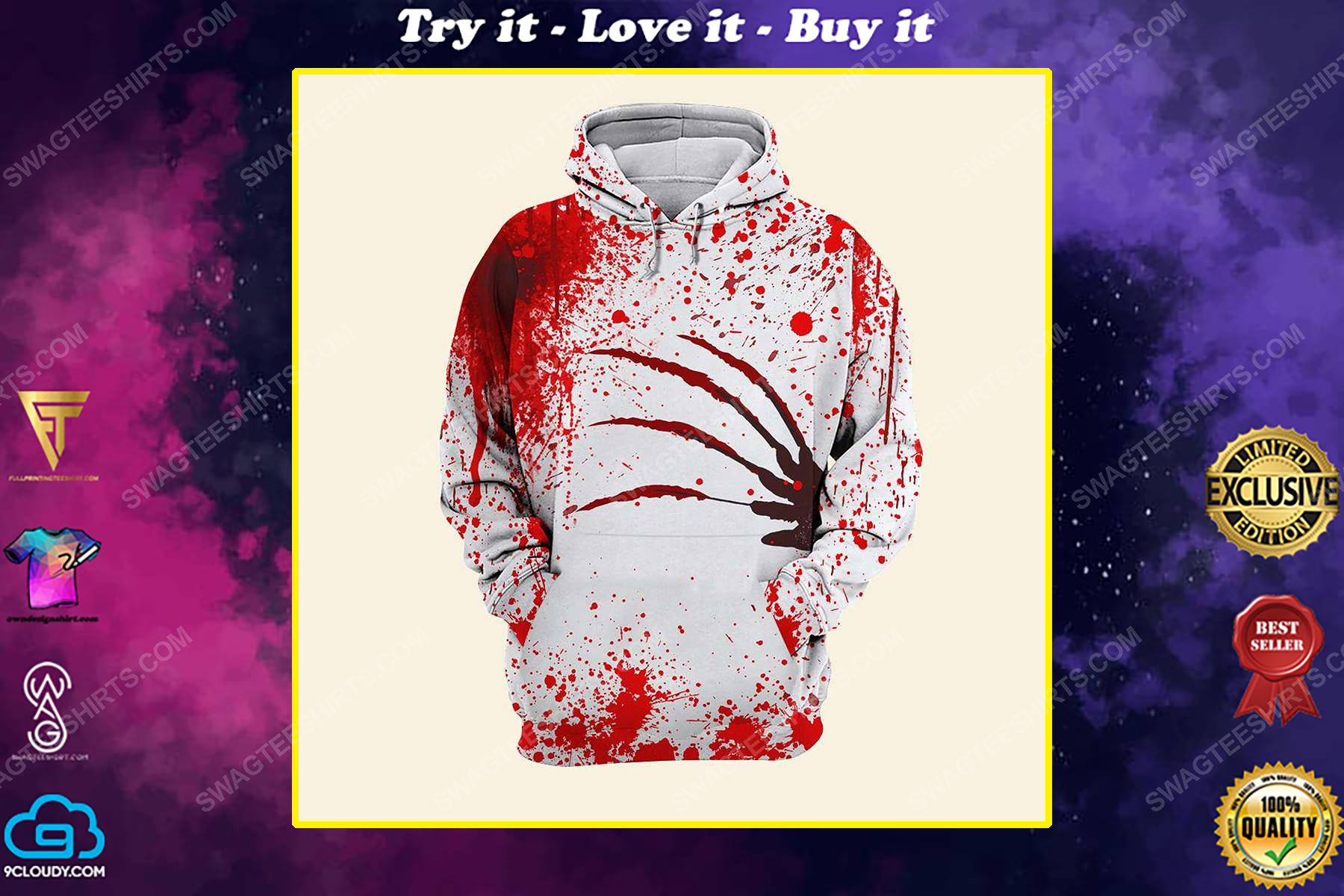 Halloween blood horror movies lover freddy's nightmares shirt
