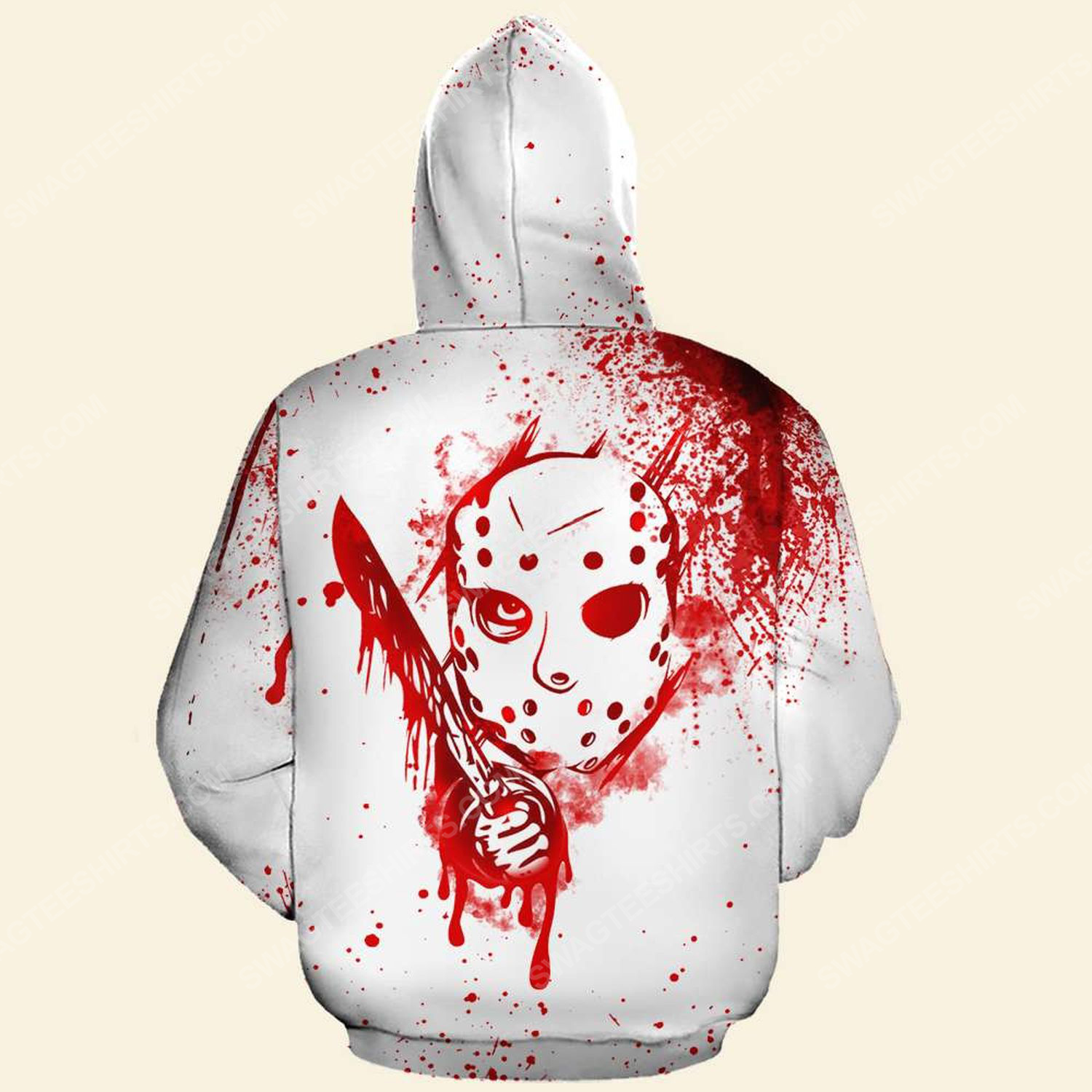 Halloween blood i don't always ch ch ch ch friday the 13th full print hoodie - back
