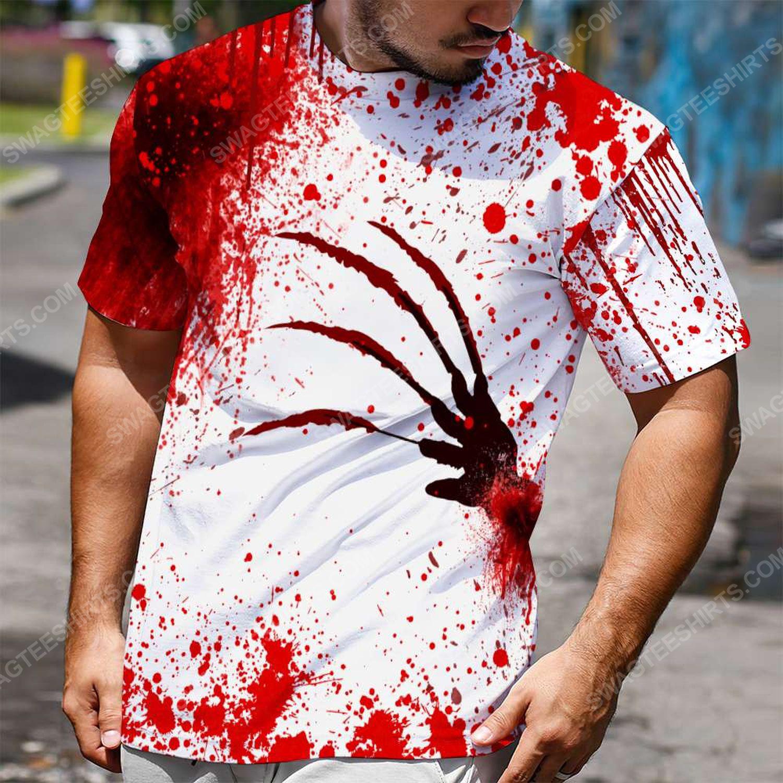 Halloween blood i'm fine it's fine everything is fine shirt 2