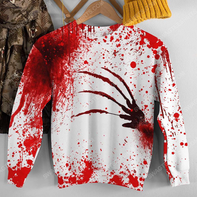 Halloween blood i'm fine it's fine everything is fine sweatshirt