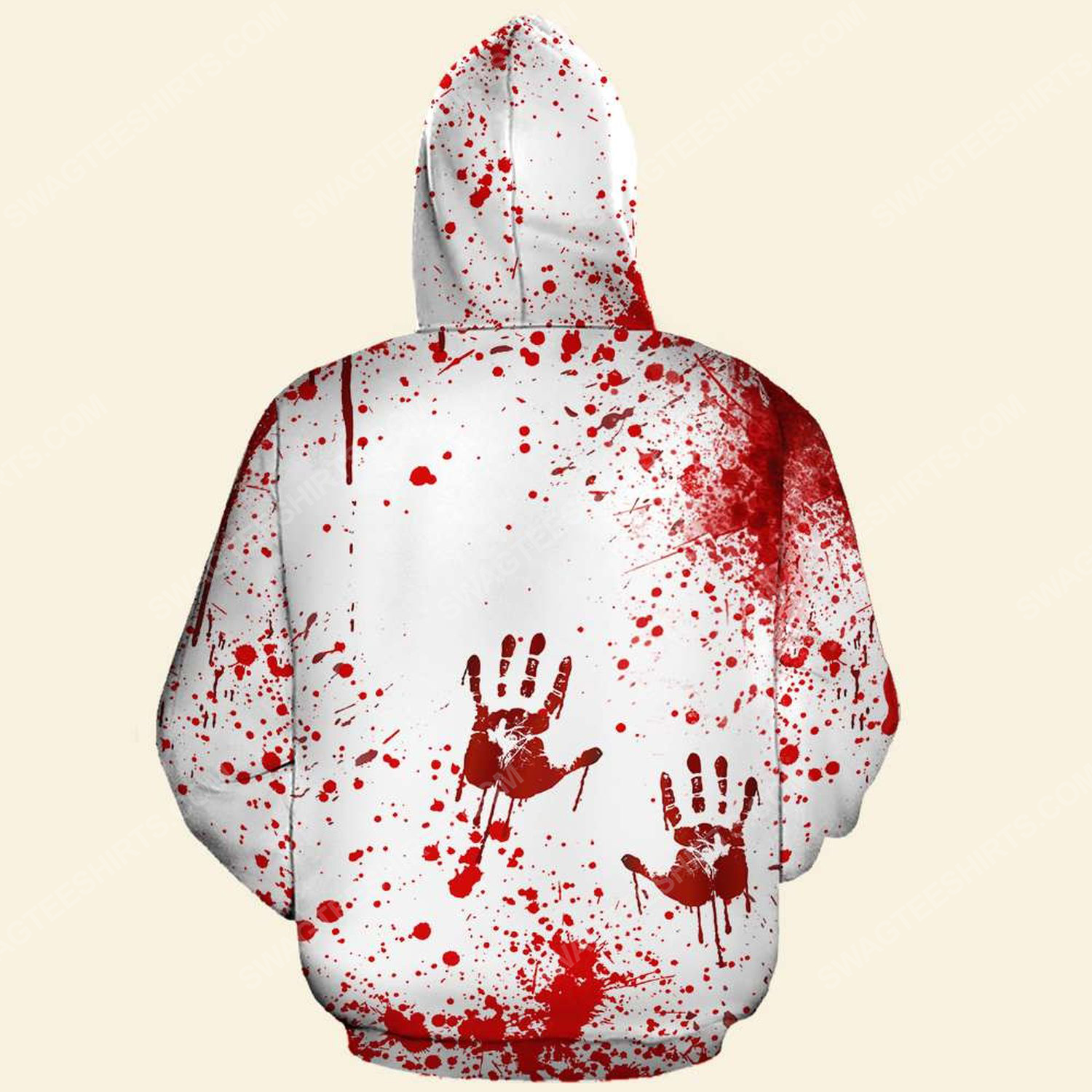 Halloween blood pennywise we all float down here hoodie - back