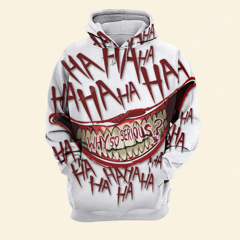 Halloween blood why so serious joker full print hoodie