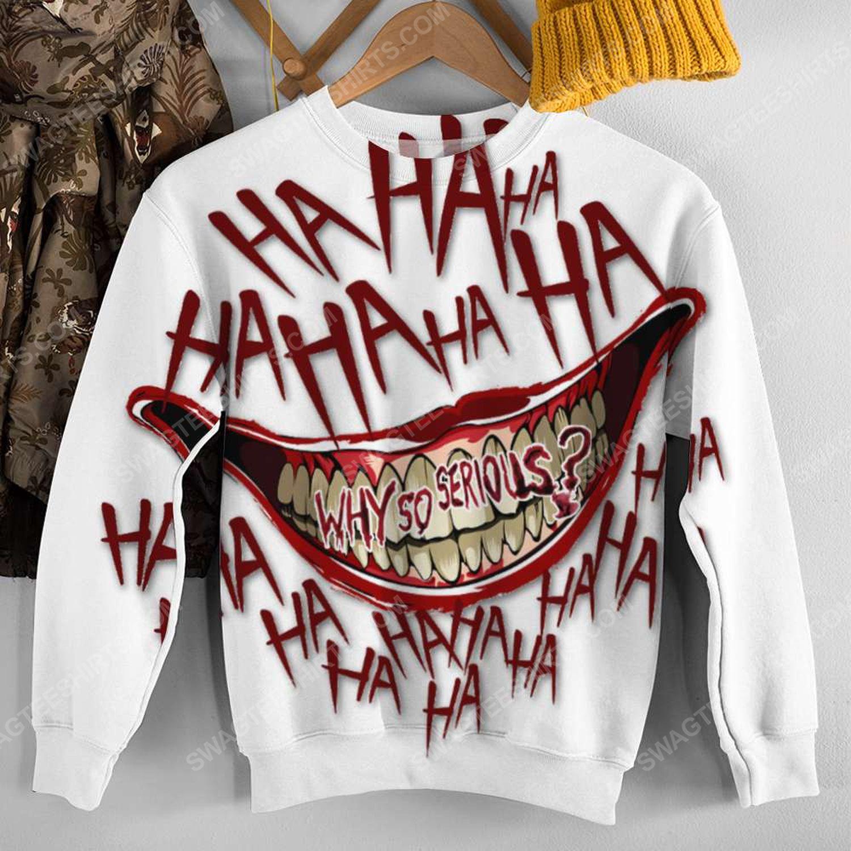 Halloween blood why so serious joker full print sweatshirt 1