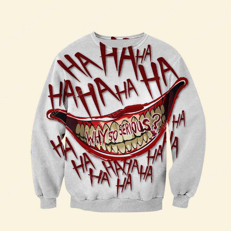 Halloween blood why so serious joker full print sweatshirt