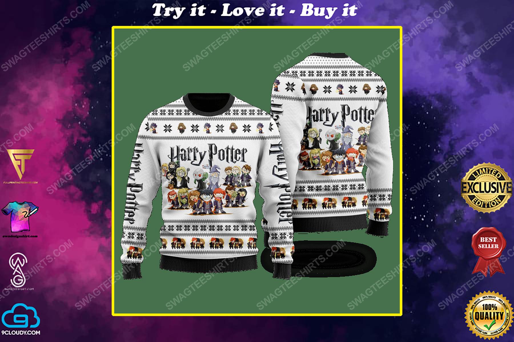 Harry potter chibi ugly christmas sweater 1