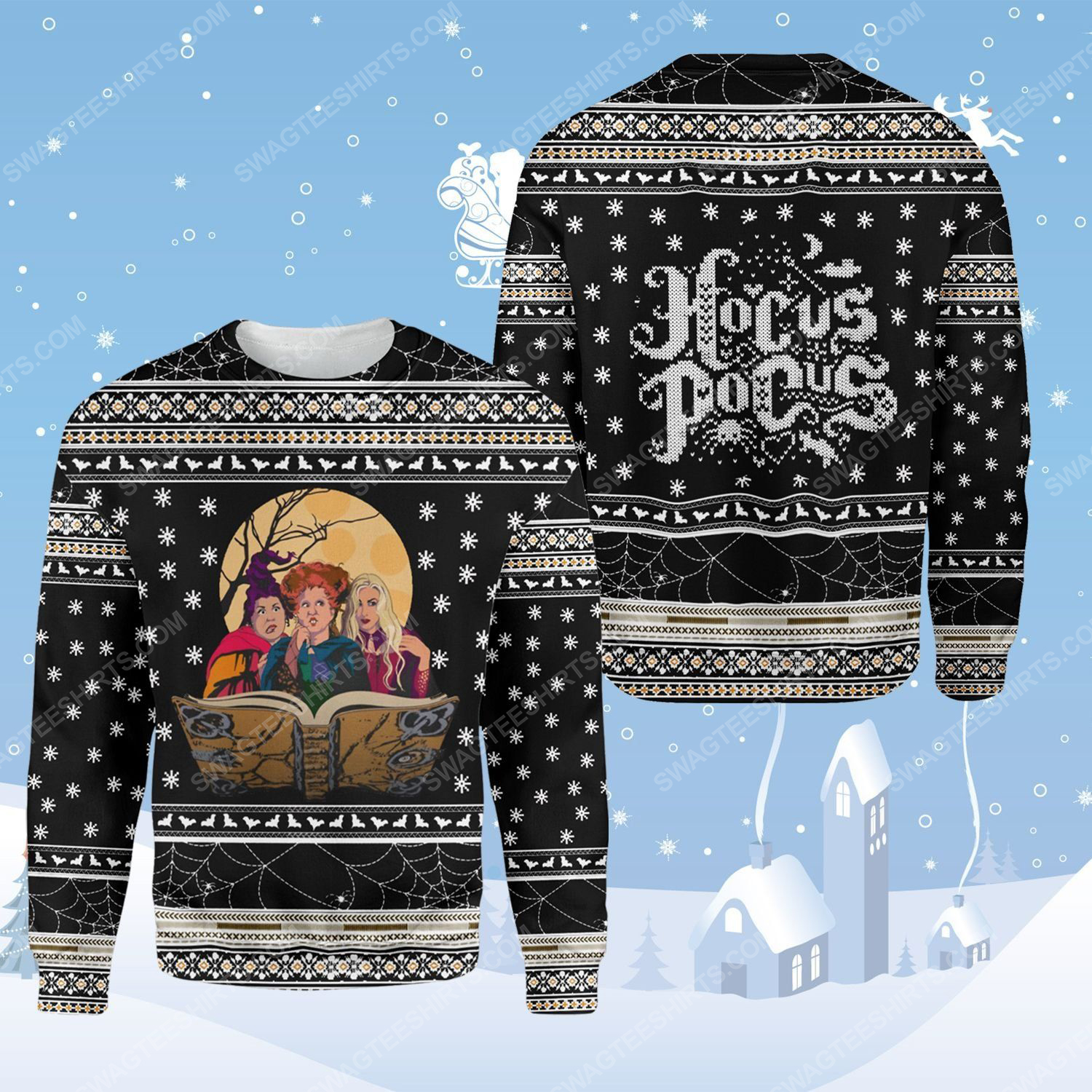 Hocus pocus witches ugly christmas sweater - Copy
