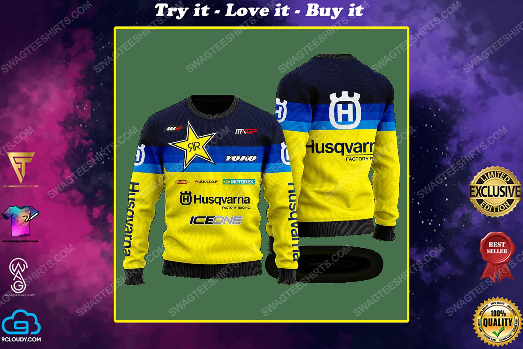 Husqvarna factory racing ugly christmas sweater 1