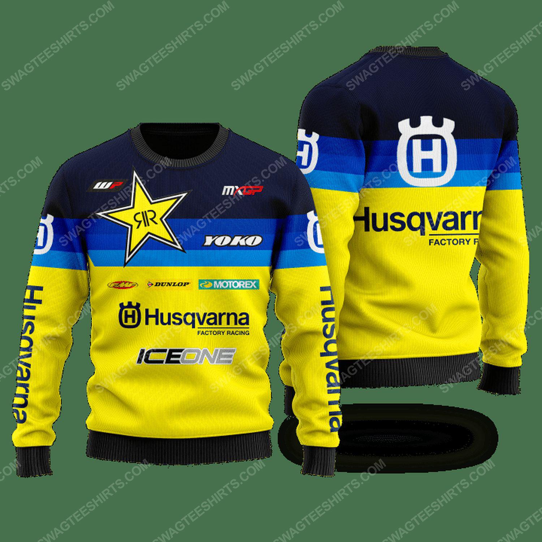Husqvarna factory racing ugly christmas sweater