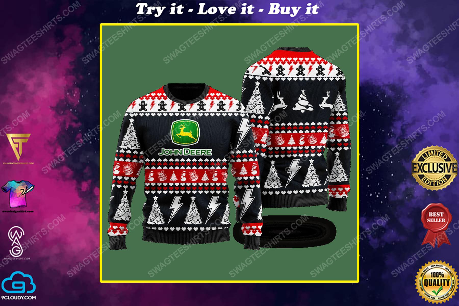 John deere company ugly christmas sweater 1