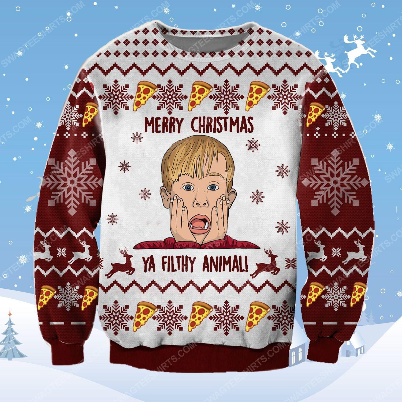 Merry christmas ya filthy animal home alone ugly christmas sweater - Copy (3)