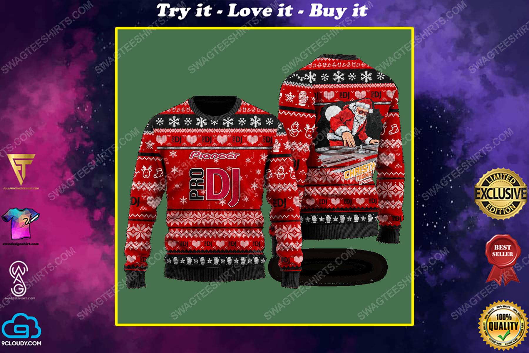 Pioneer pro dj santa claus ugly christmas sweater 1