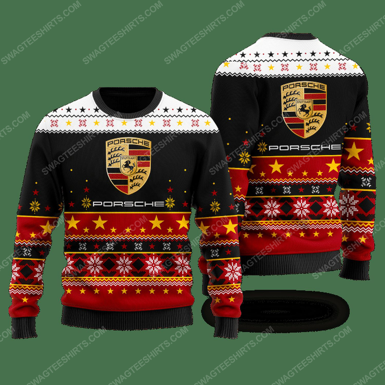 Porsche racing car ugly christmas sweater - Copy