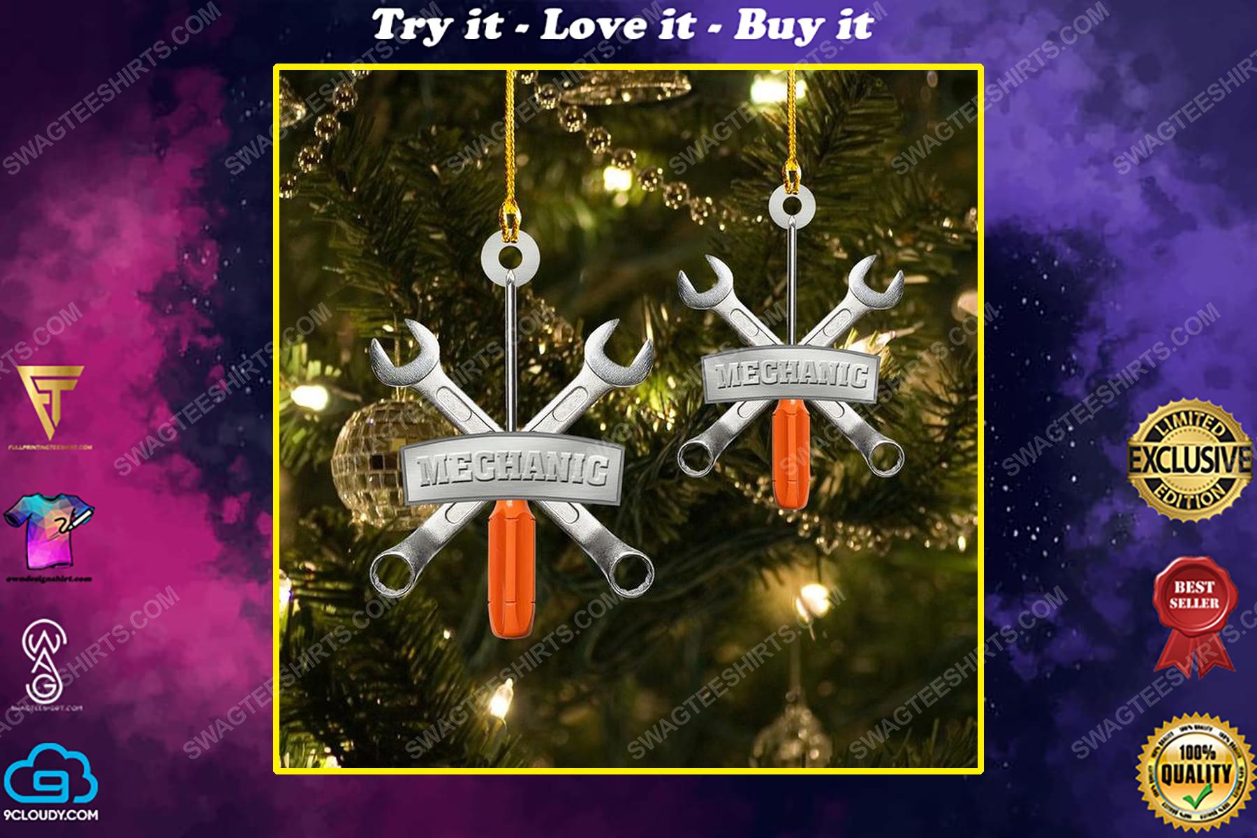 The mechanic christmas gift ornament