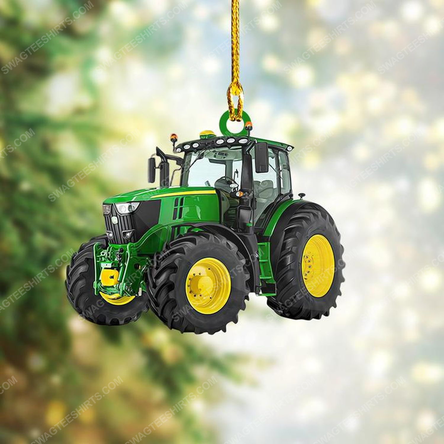 Tractor christmas gift ornament